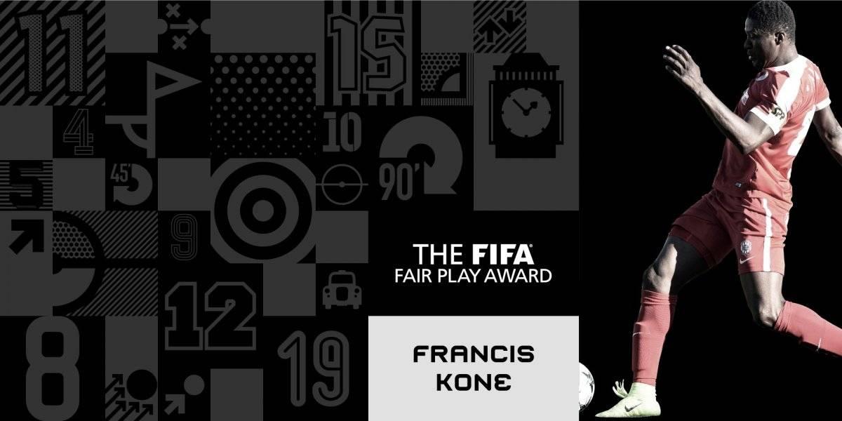 Francis Koné, ganador del Premio Fair Play