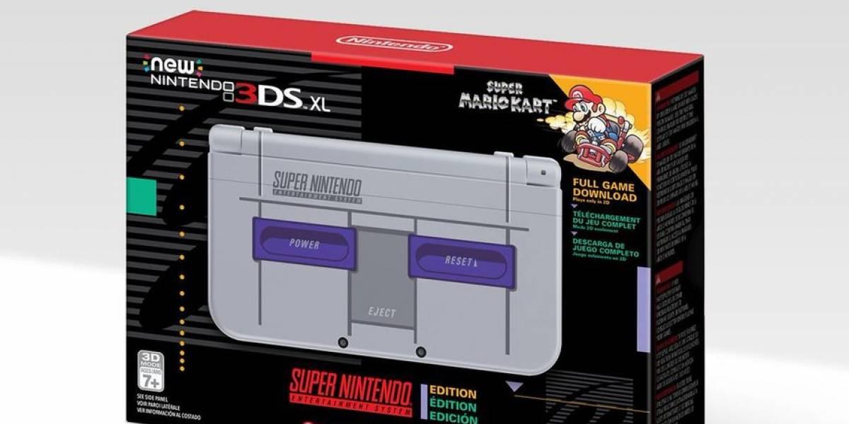 """Nintendo 3DS versión """"Snes"""" llegará a Estados Unidos"""