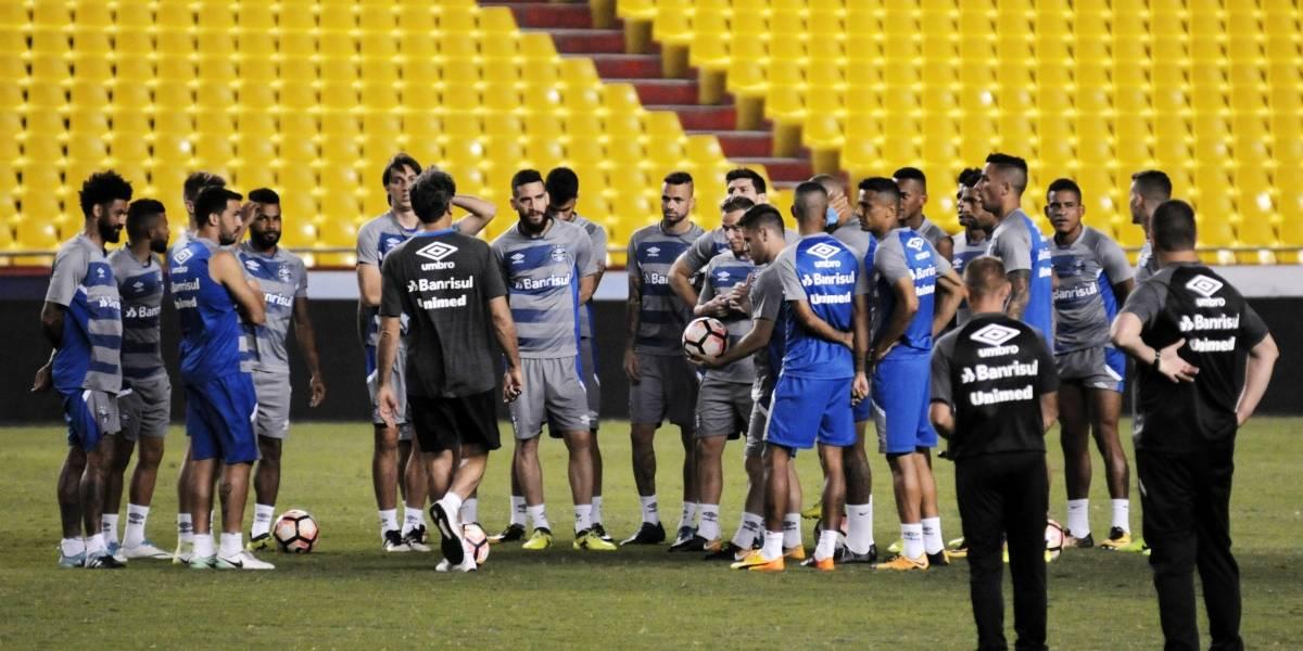 Gremio se entrenó en el estadio Monumental
