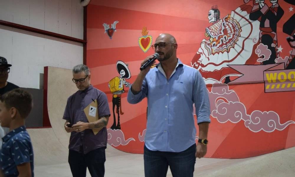 El gerente general del Hard Rock Riviera Maya, Jan Hundrieser, durante la inauguración | Foto: Aabye Vargas