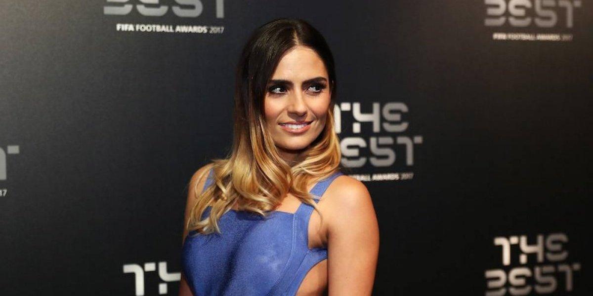 Layla Anna-Lee, la bella presentadora de los premios The Best
