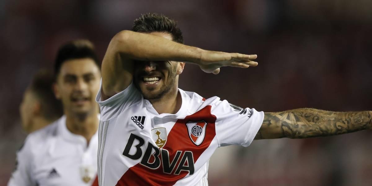 Sin Santos Borré, River pegó primero en las semis de Libertadores, ante Lanús
