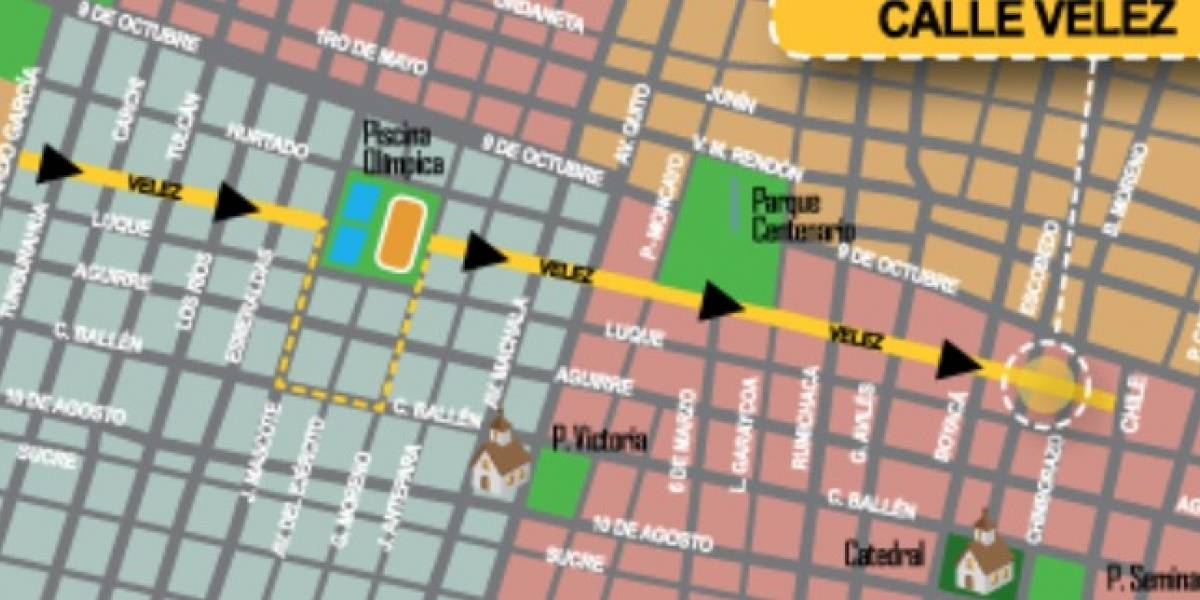 ATM reitera cambio de dirección vial en la calle Vélez