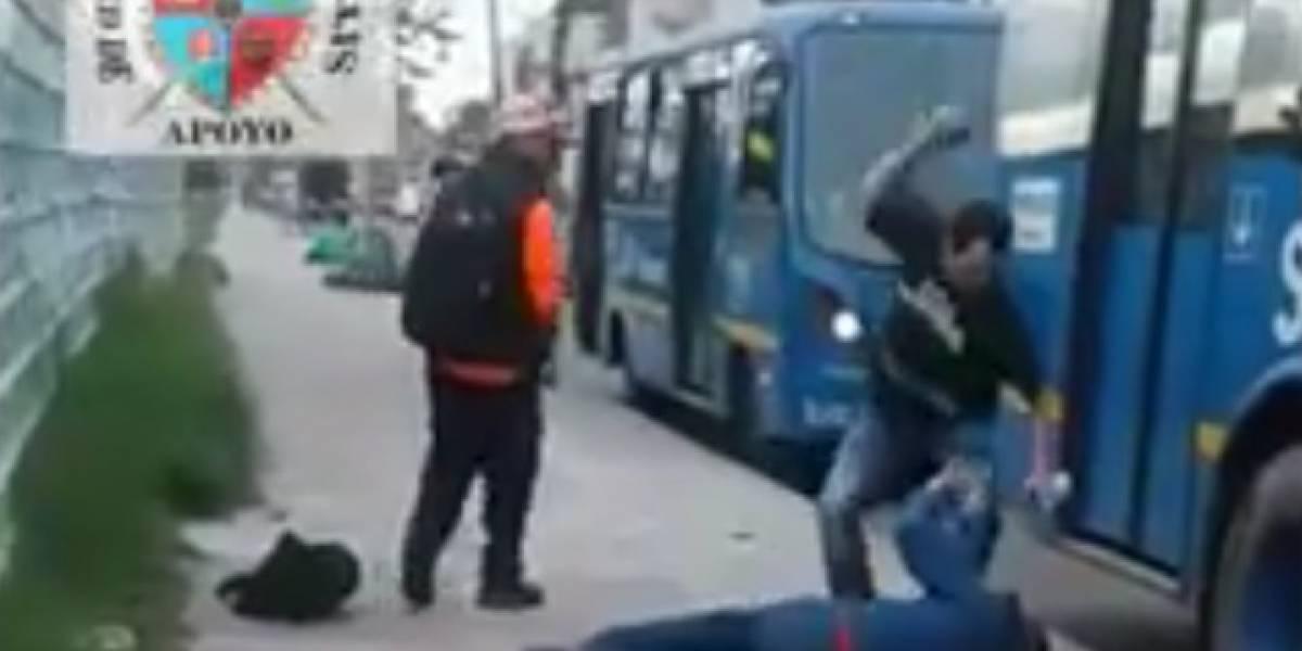Video: Pasajero ataca conductor del Sitp por demora en la ruta