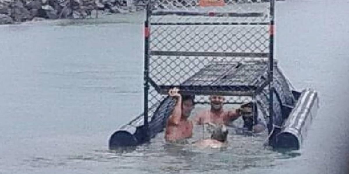 """""""Los idiotas del siglo"""": amigos nadaron en una trampa para cocodrilos y causaron revuelo en Australia"""