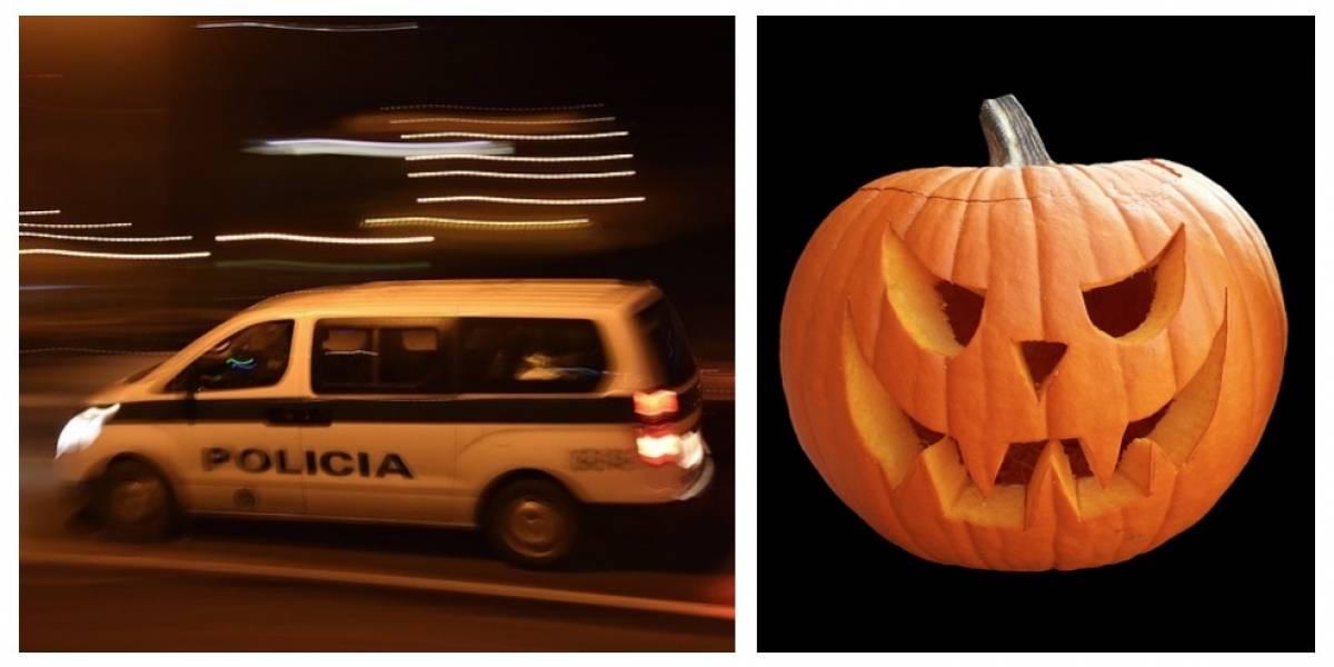 FOTO. Carro con adorno de Halloween provoca una persecución en México