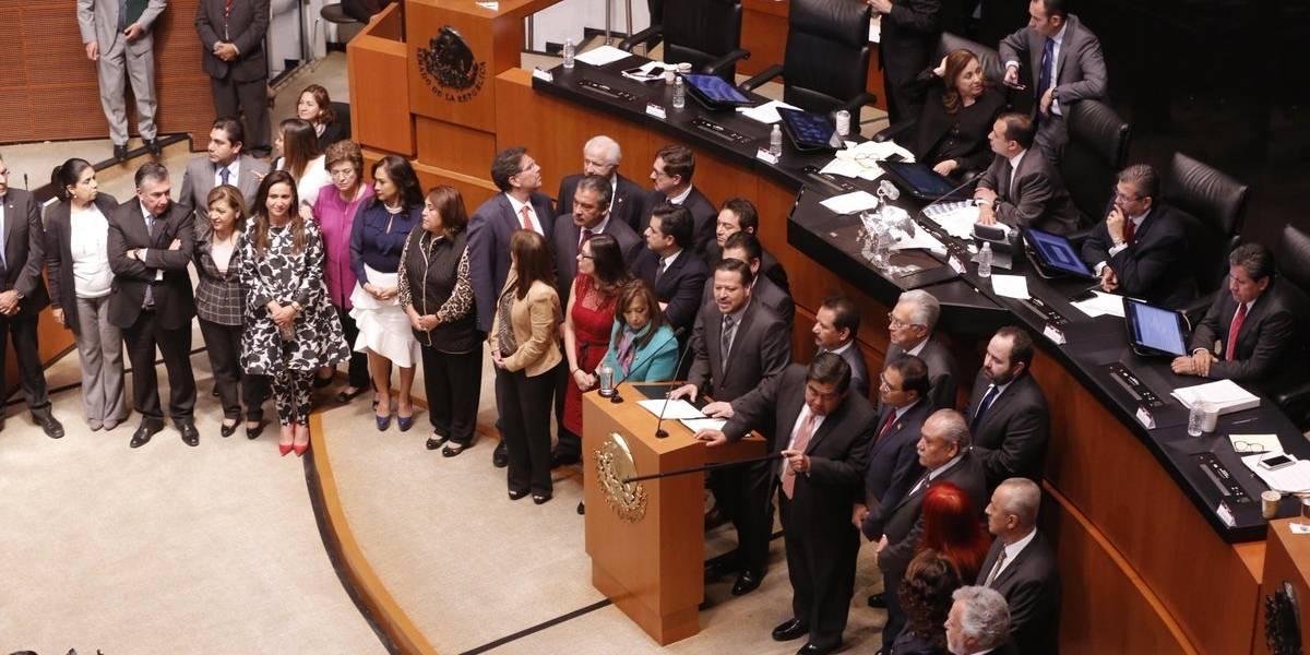 Oposición revienta sesión del Senado por caso Santiago Nieto