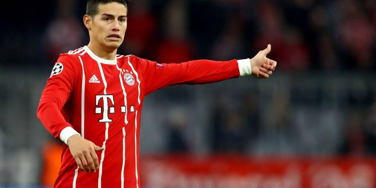 James Rodríguez no viaja con el Bayern para el duelo de la Copa de Alemania