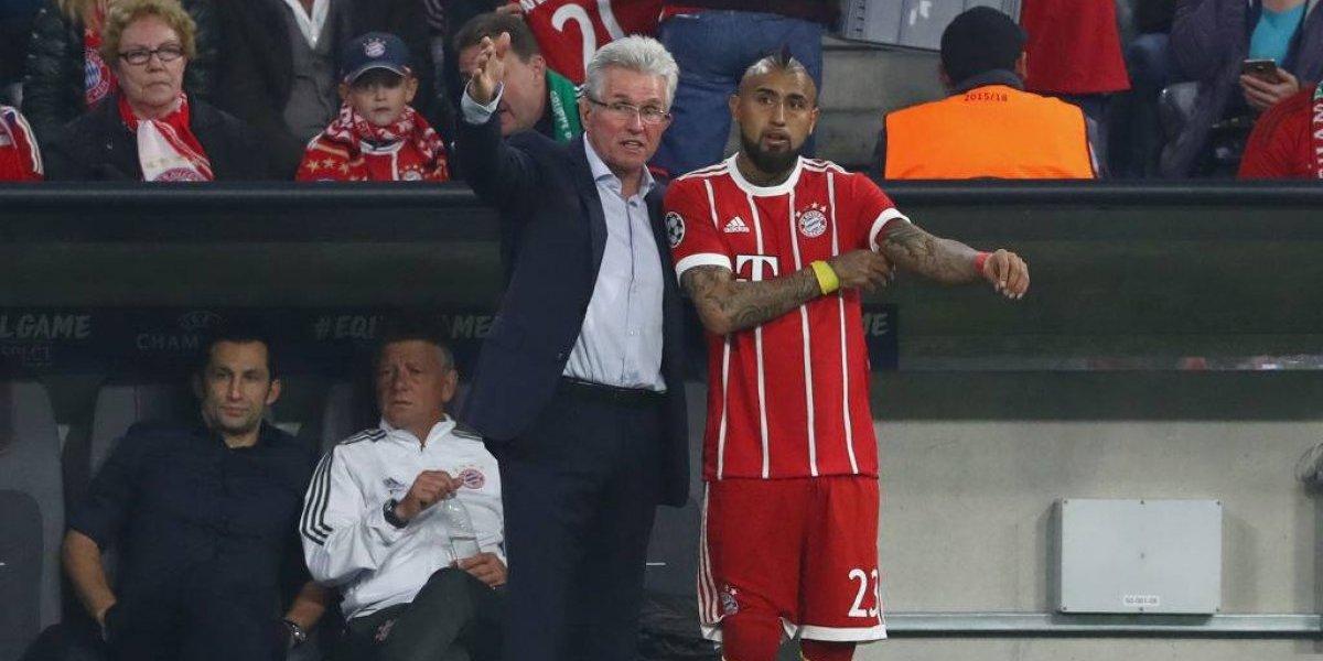 Arturo Vidal pasa a ser el comodín de Heynckes en el Bayern tras seguidilla de bajas