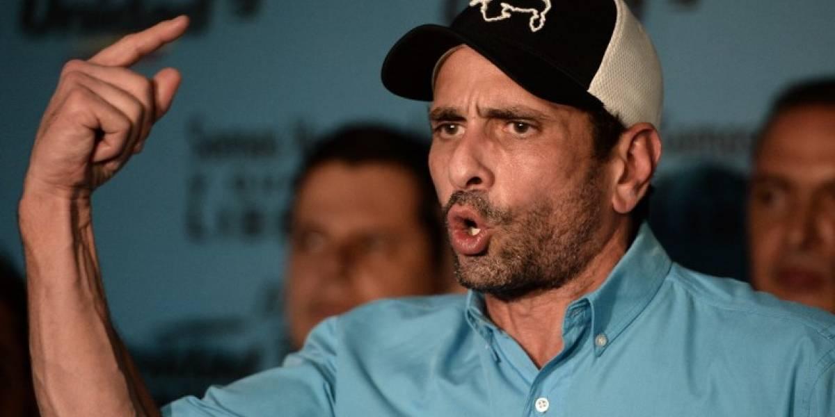 Capriles anuncia retiro de coalición opositora venezolana
