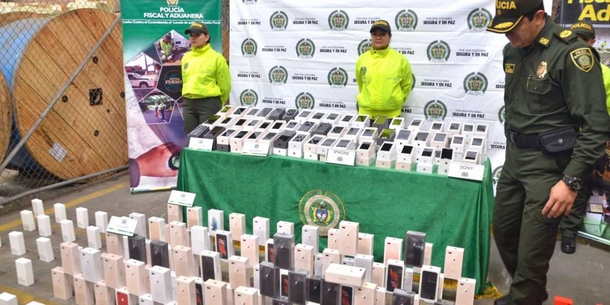 En Antioquia se incautaron 1650 celulares de alta gama que eran de contrabando