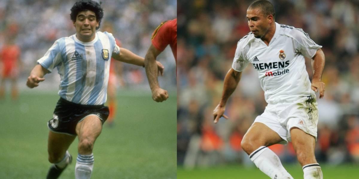 FOTOS: El antes y después de Maradona y Ronaldo