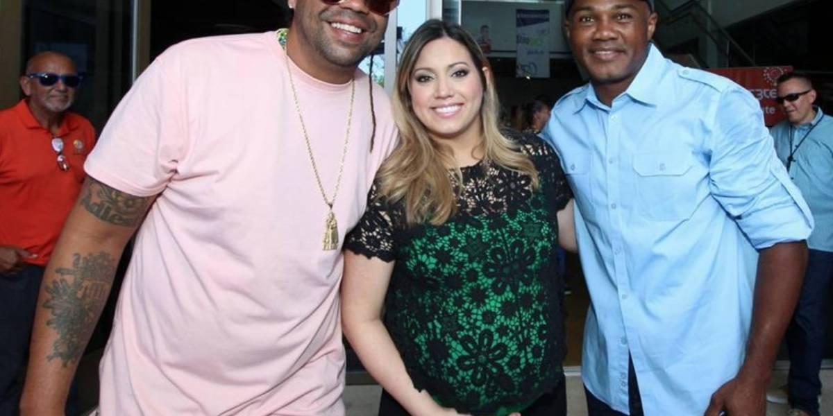 Primera dama, Pirulo y Tito Trinidad visitan centros Stop & Go