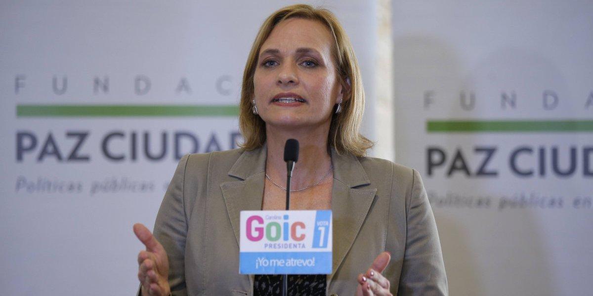 """Carolina Goic sobre encuesta CEP: """"Hay una mentira que se trata de instalar a los chilenos"""""""