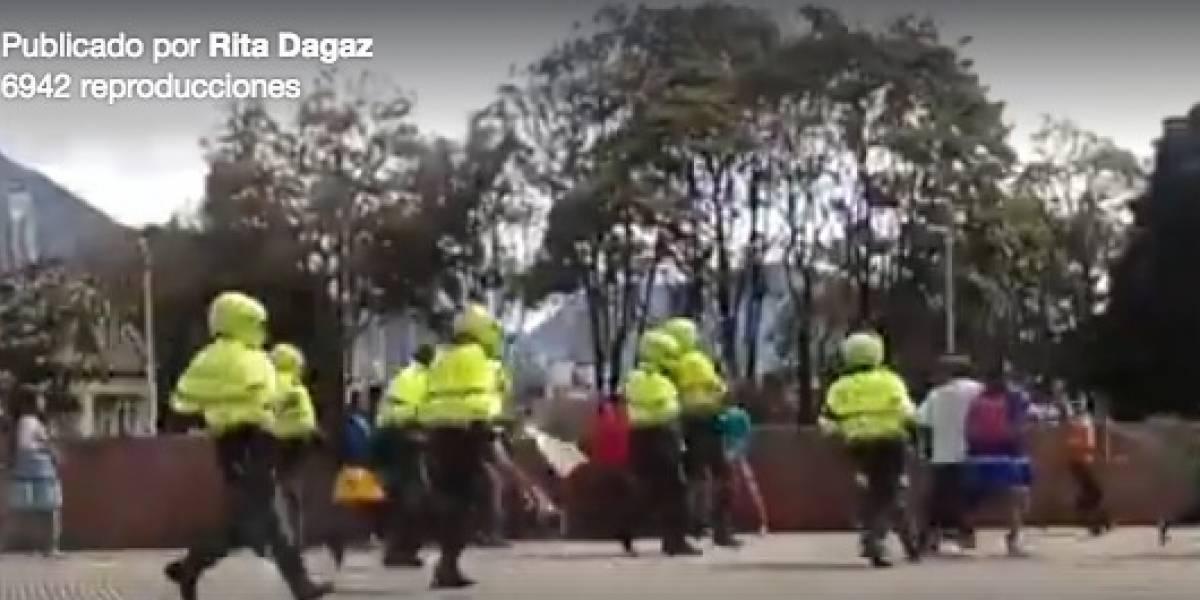 Video: brutal agresión policial en Bogotá