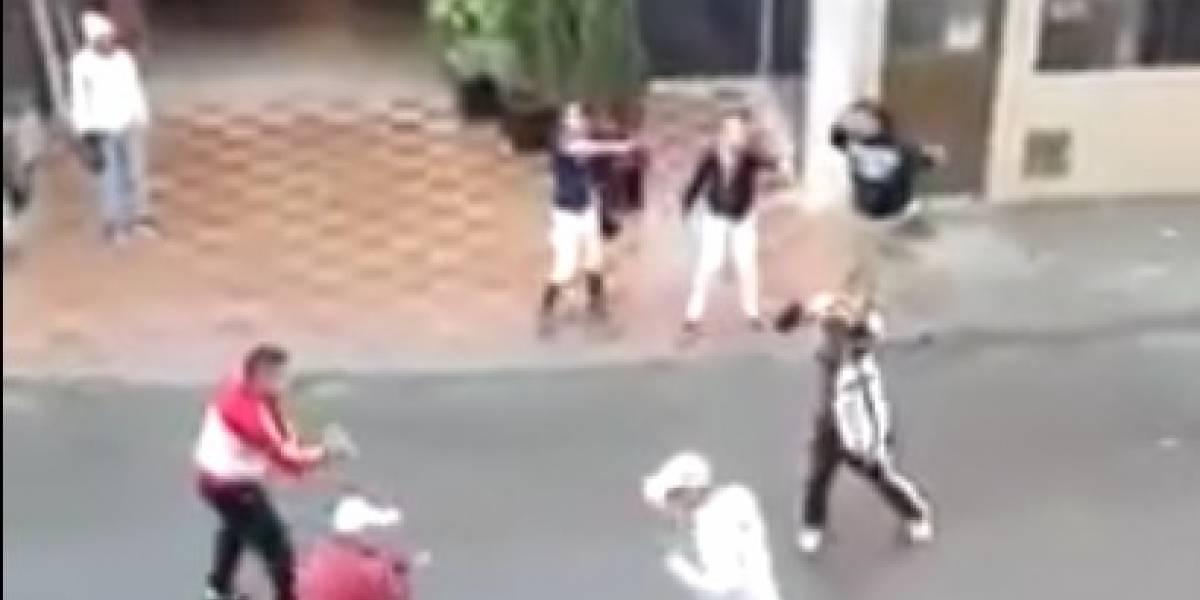 Video: batalla campal en zona de moteles de Bogotá