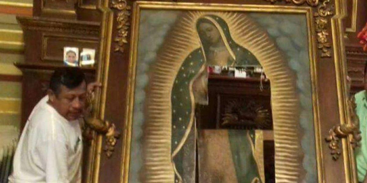 Arrestan a #LadyVirgen por destrozar altar a la Virgen de Guadalupe en Tamaulipas