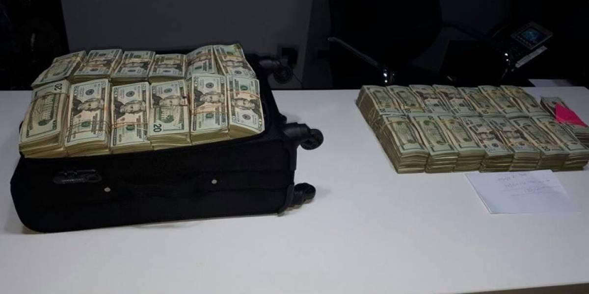 Allanamiento en zona 10 deja cinco detenidos y medio millón de dólares incautados