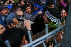Liberan a presos mapuche