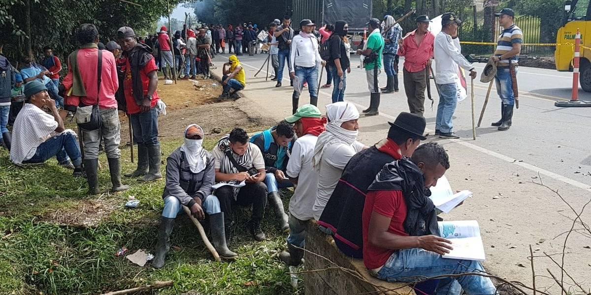 Bloqueos de vías y ataques del Esmad en primeros días del paro campesino