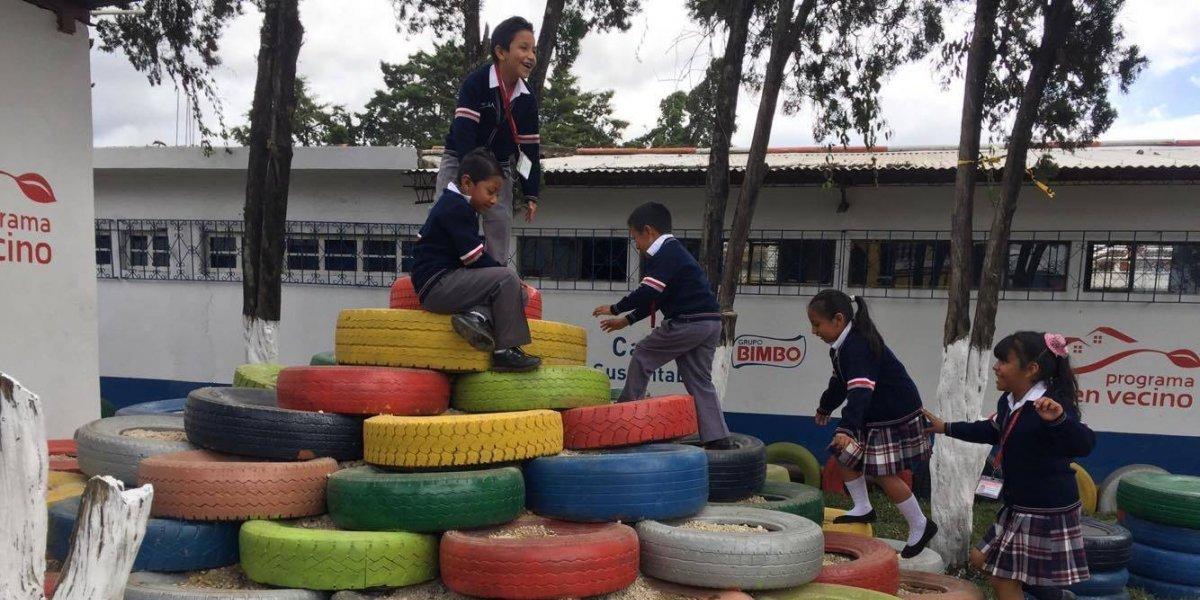 Niños en escuela de El Tejar tendrán un nuevo espacio recreativo para jugar