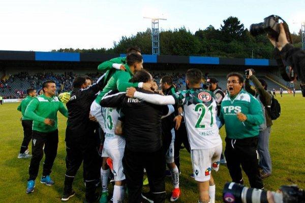 Wanderers festeja / imagen: Photosport