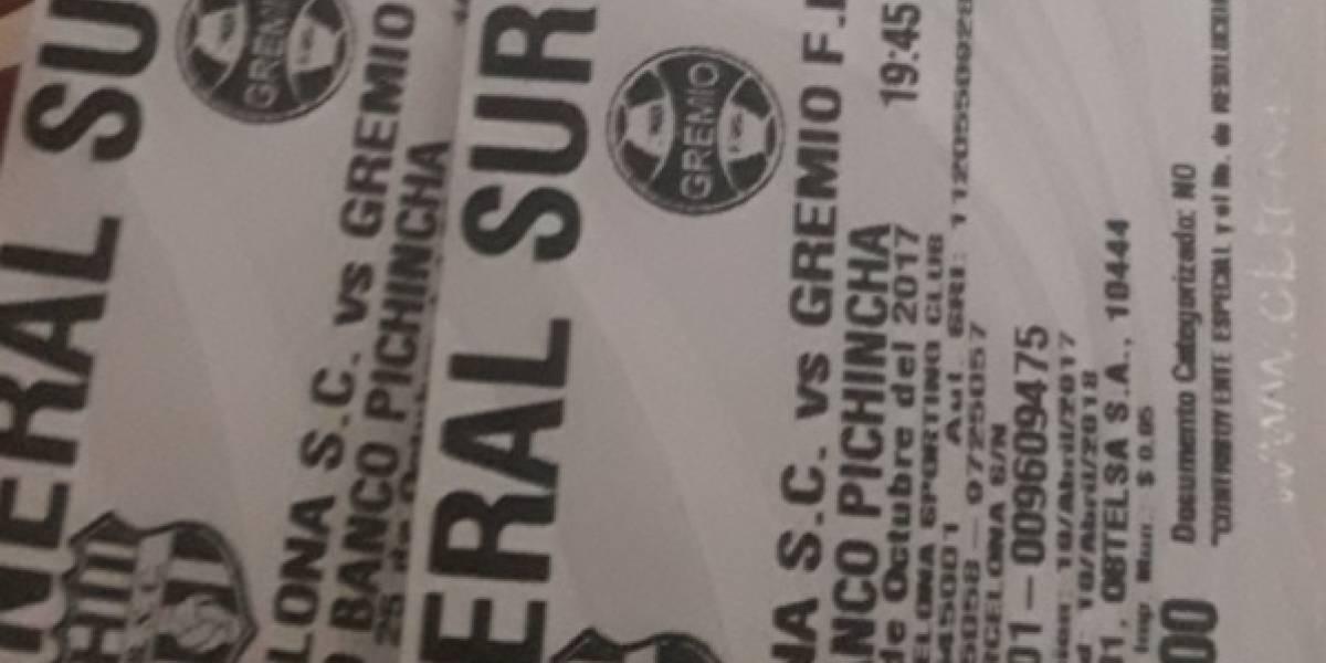 Se agotaron las entradas para Barcelos SC vs. Gremio y se revenden en Internet