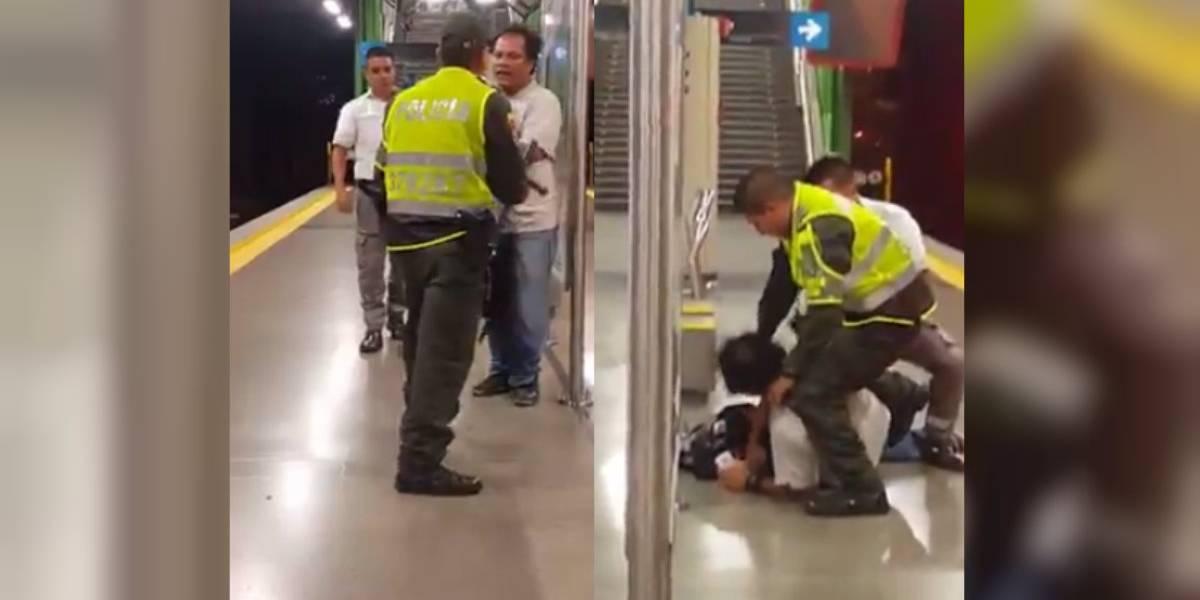 La épica pelea de un borracho en Medellín que intentó enfrentarse a un policía