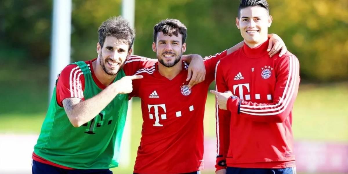 James vuelve a las prácticas con el Bayern después de su lesión