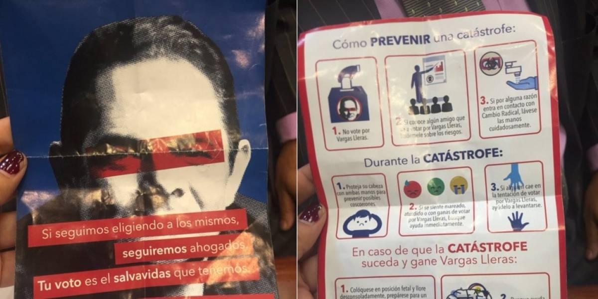 La denuncia de la campaña de Humberto de la Calle sobre un panfleto que no hicieron ellos