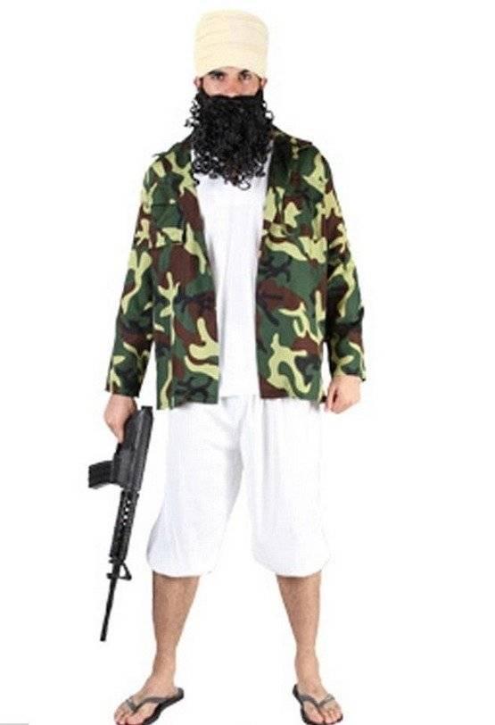 terrorista disfraz