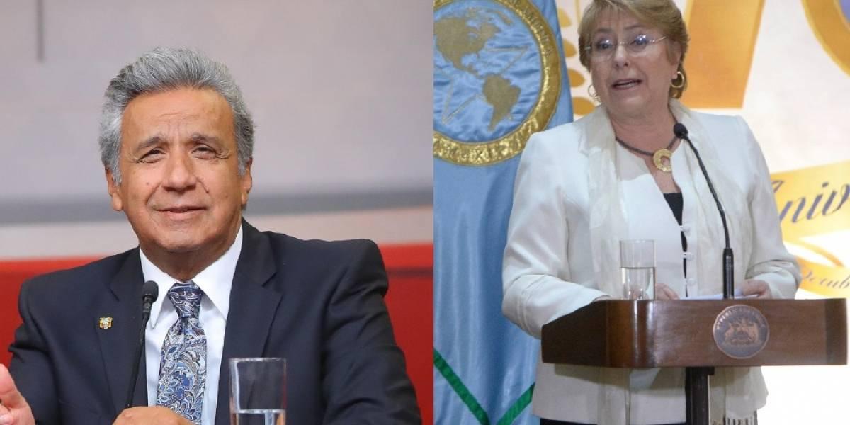 Lenín Moreno y Michelle Bachelet se reunirán el domingo y el lunes en Galápagos