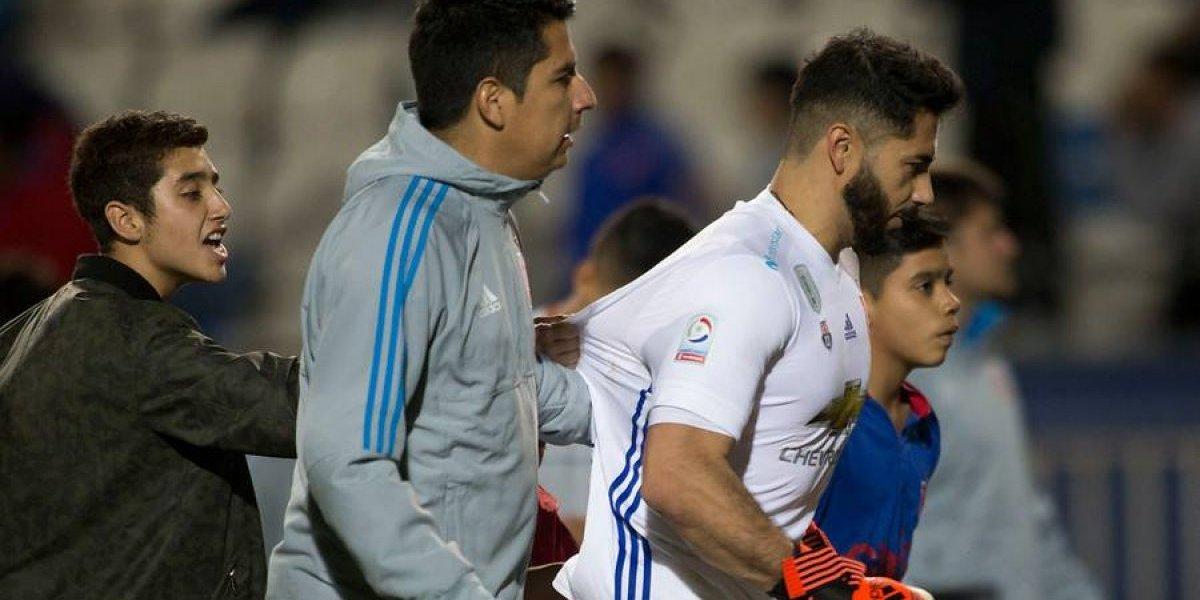 Johnny Herrera se quejó por el arbitraje en la caída de la U ante Antofagasta por Copa Chile