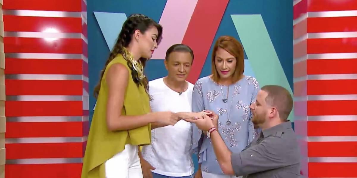 """Danilo Beauchamp """"le propone matrimonio"""" a Nicole Colón"""