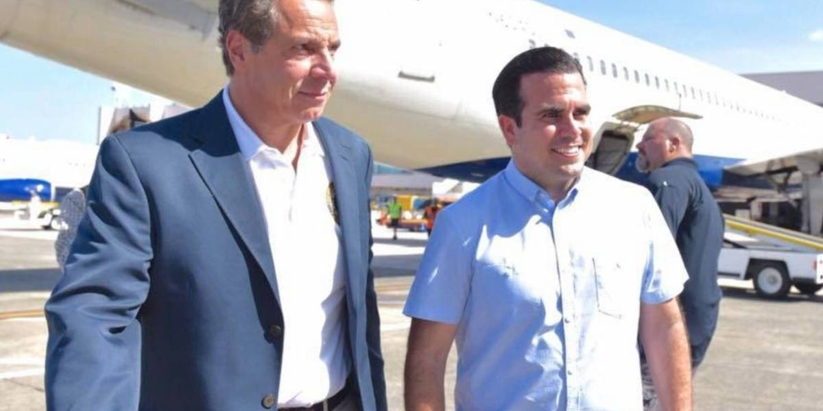 Gobernador de Nueva York arriba a la Isla
