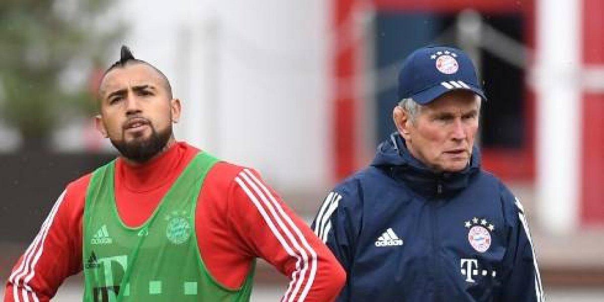 """Heynckes blinda a Vidal tras acusación de indisciplina: """"No puedo juzgar lo que pasó"""""""