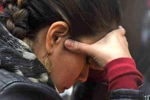 Claudia Méndez ora en la audiencia del caso La Línea