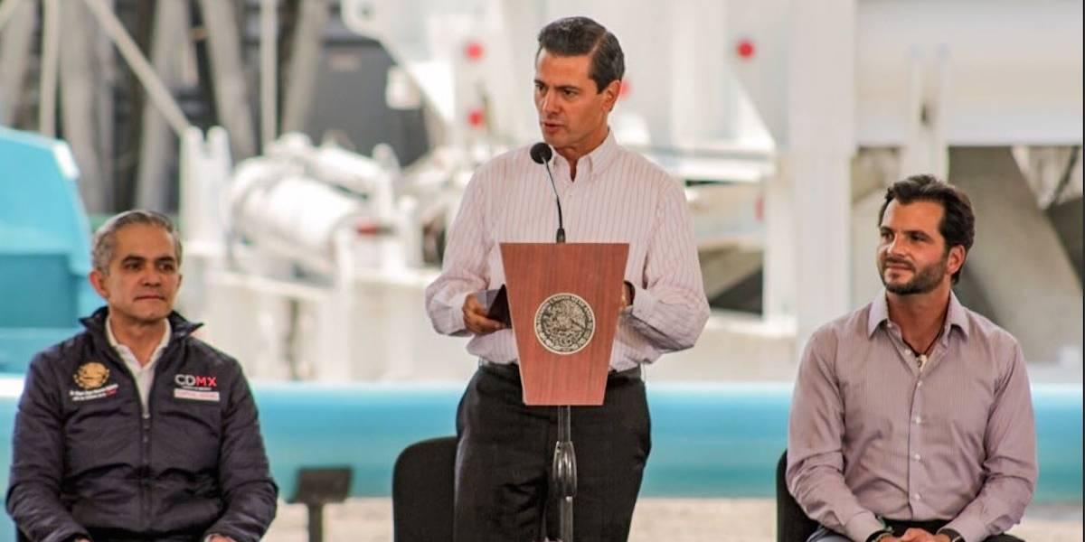 Peña Nieto anuncia plan para reabastecer agua en el subsuelo de la CDMX