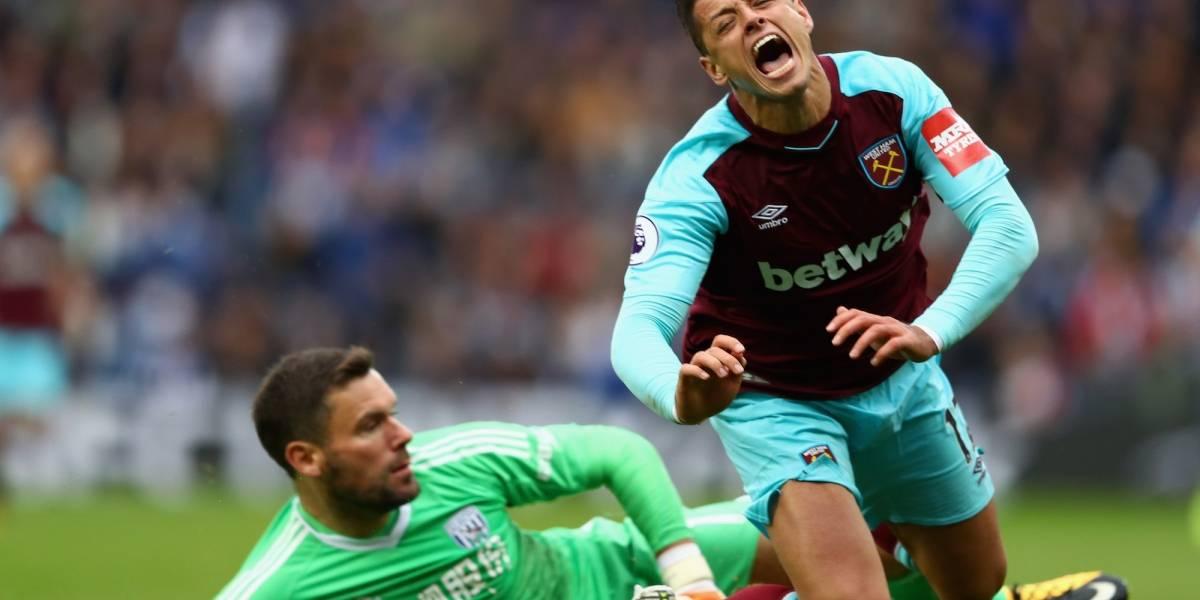 'Chicharito' mete en problemas al técnico de West Ham