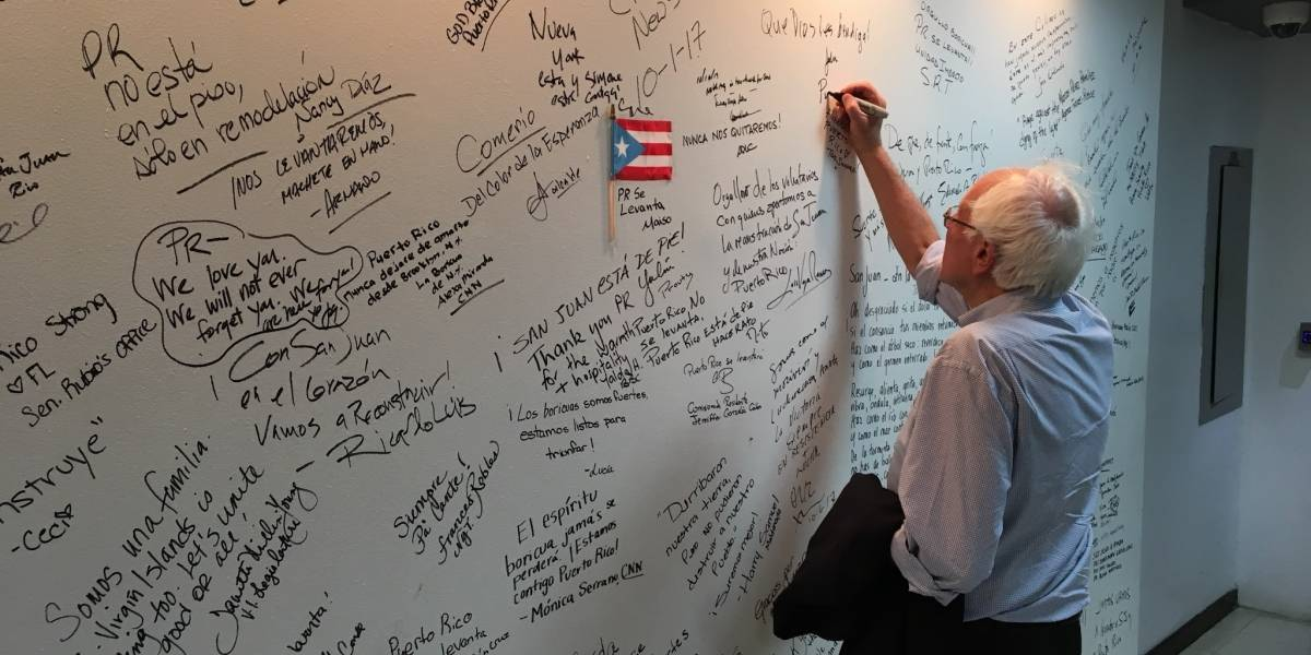 """Bernie Sanders: """"Un atropello"""" el contrato de Whitefish Energy"""