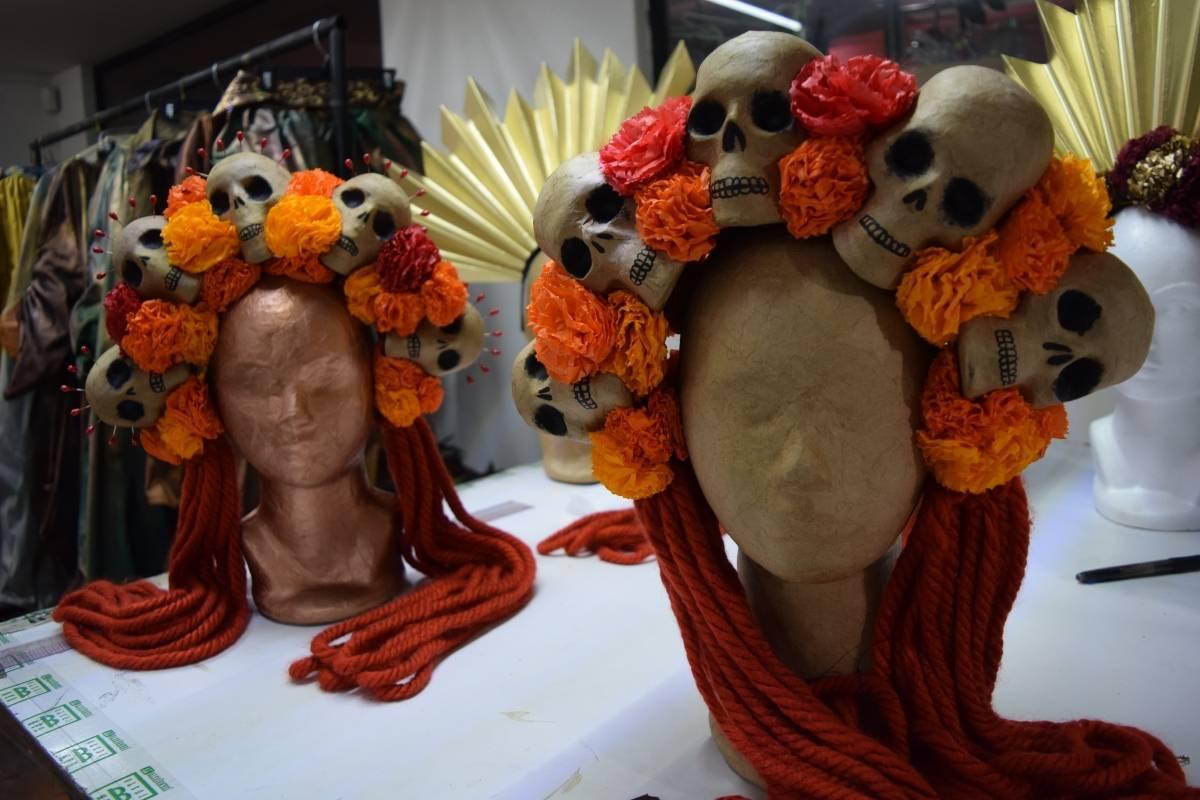 Vestuario Desfile Día de Muertos producido por el equipo de Callejón Salao Carmen Ortega | Publimetro