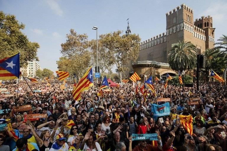 Declaran independiente a Cataluña. Foto: AFP