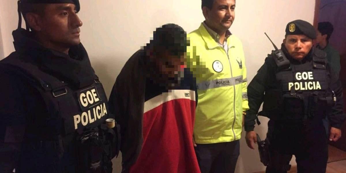 Policía recaptura a hombre acusado de violación que se fugo del CDC de Riobamba