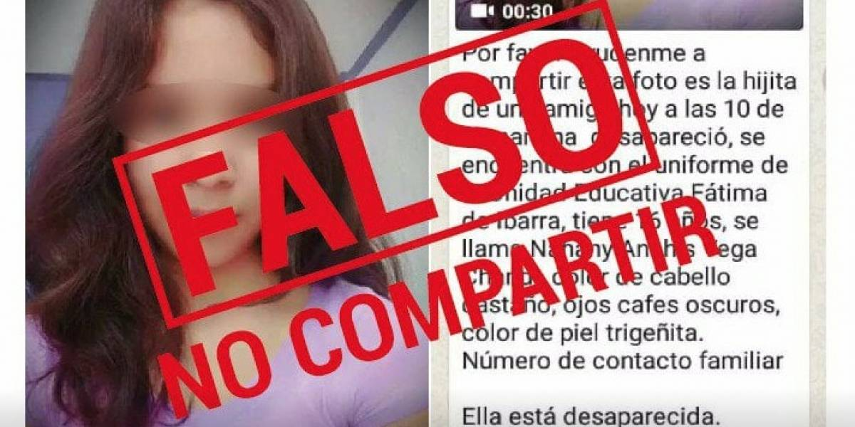 Policía desmiente publicación de 'desaparecida' en Facebook