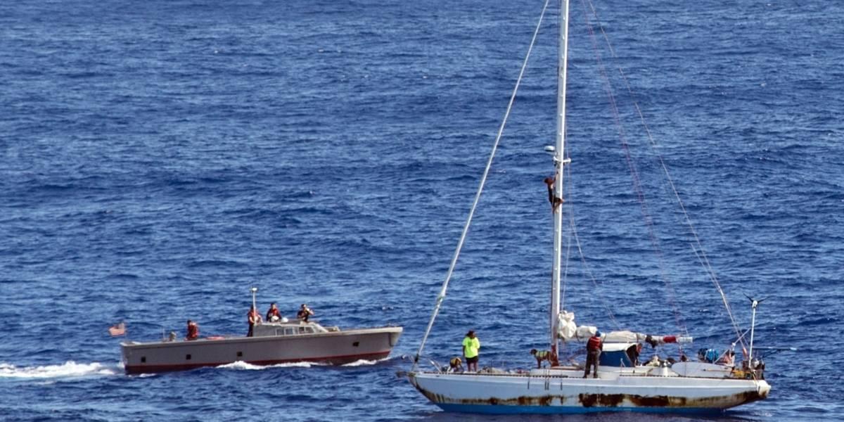 Rescate de película en el Pacífico