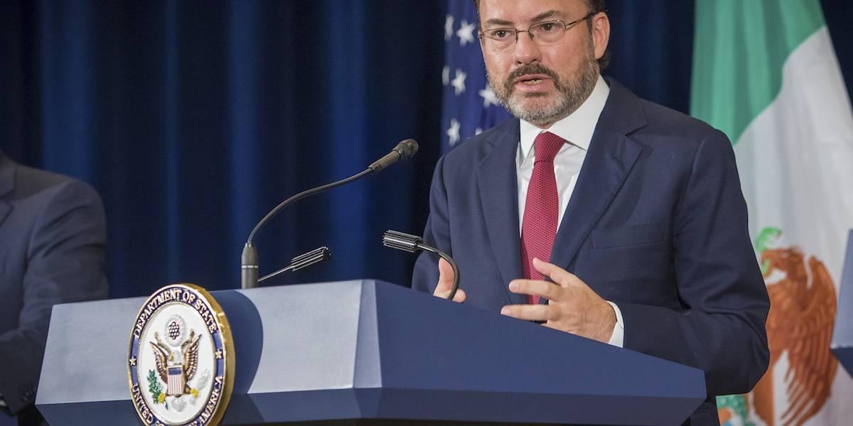 Videgaray pide a EU corresponsabilidad en el tráfico de drogas