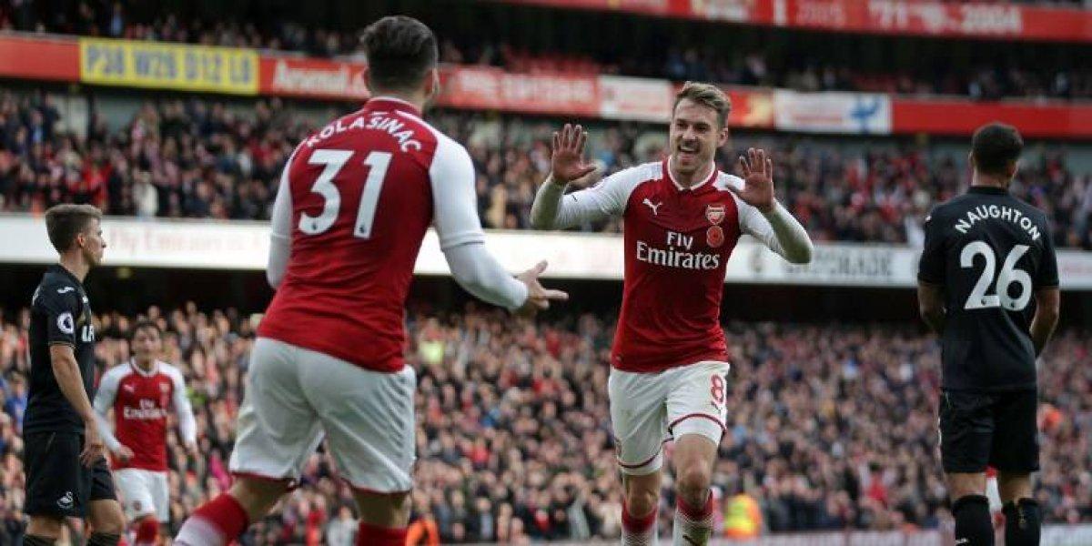 El Arsenal con Alexis lo dio vuelta ante Swansea y llegará prendido a desafiar al City