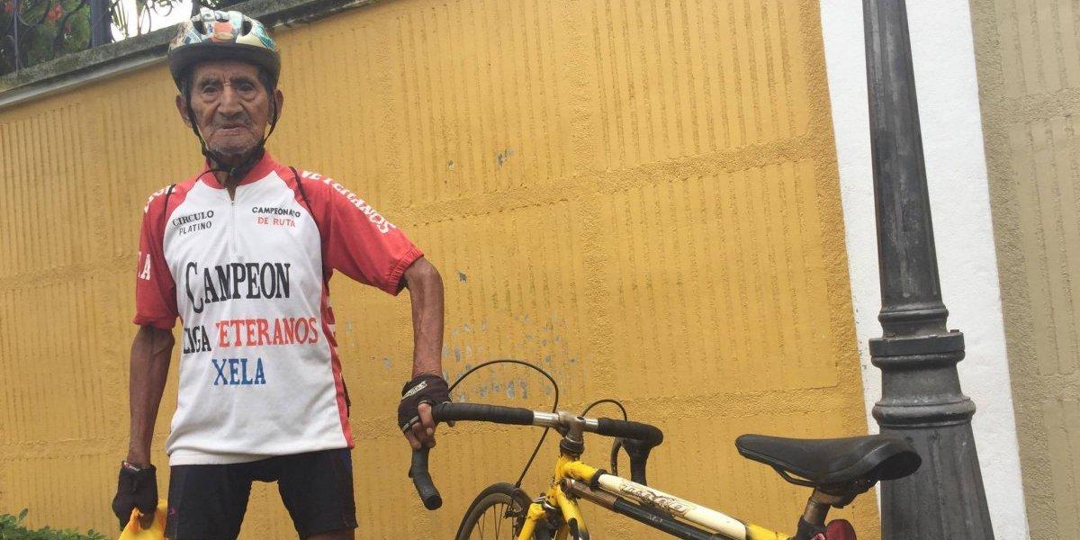 Don Alberto Sop, el eterno ciclista con corazón ganador
