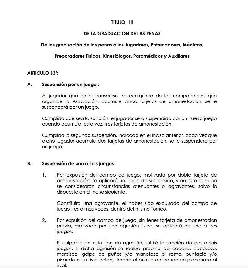 Guede arriesga de 1 a 10 partidos según el reglamento de la ANFP - anfp.cl
