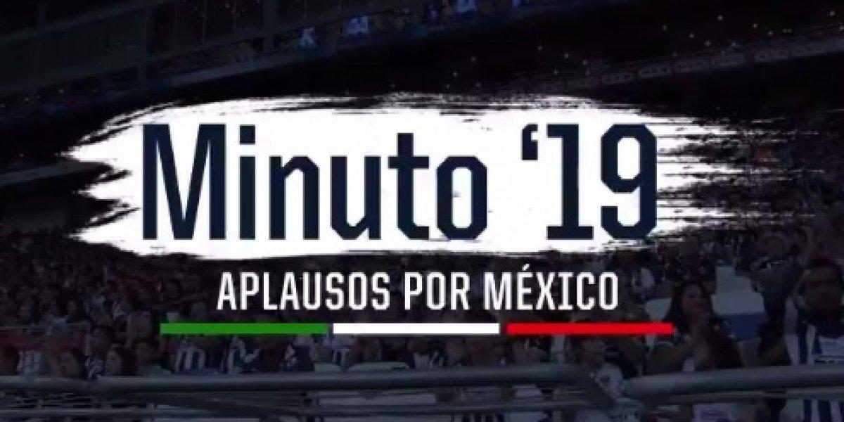 Rayados propone aplaudir al minuto 19 del partido en apoyo a México